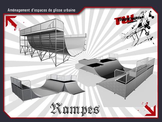 rampes pour la pratique de skate roller bmx trafic way. Black Bedroom Furniture Sets. Home Design Ideas